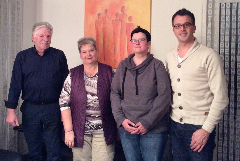 v.l.: Hans-Dieter Döring, Elisabeth Olbing, Anke Becker, Carsten Wendler