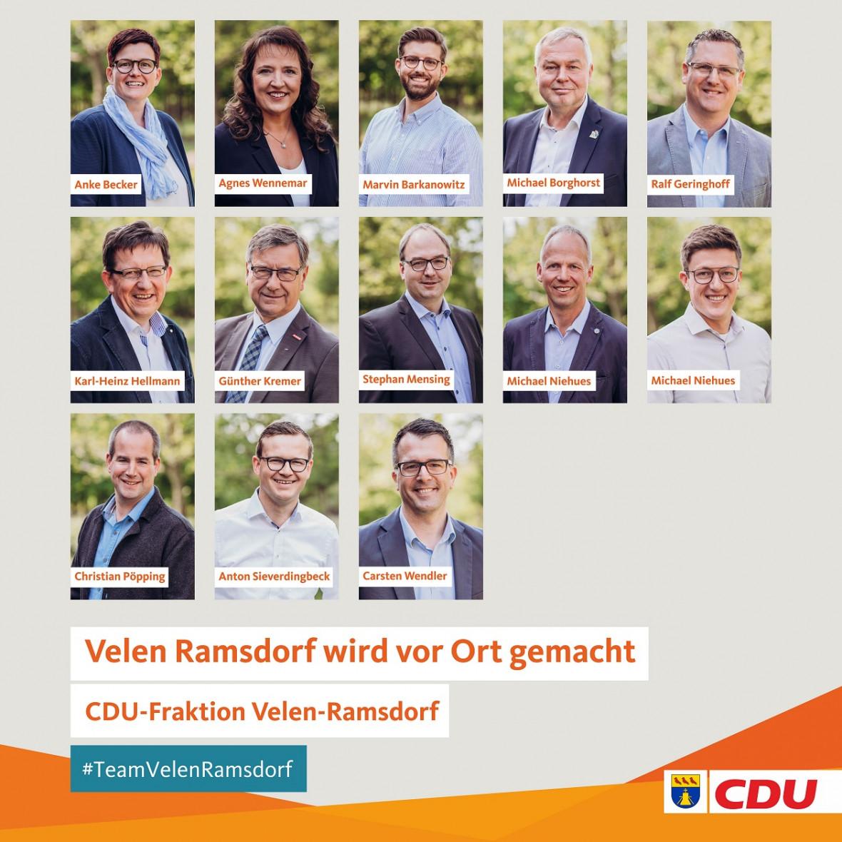 Konstituierende Sitzung der CDU-Fraktion